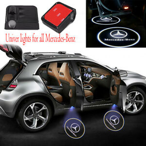 2pcs Wireless For Mercedes Benz Car Led Door Projector Logo Ghost Shadow Light