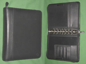 Classic 1 5 Black Top Grain Leather Franklin Covey Planner Binder 4402