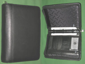Classic 1 25 Black Leather Echelon Planner Binder Franklin Covey Organizer