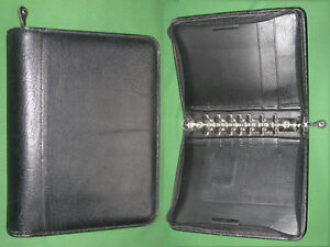 Classic 1 5 Black Top Grain Leather Franklin Covey Planner Binder 5800