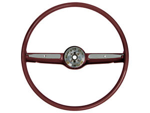 New 1968 69 Ford Mustang Steering Wheel 2 Spoke Galaxie Fairlane 16in Od Red