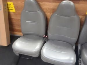 Ford Super Duty F250 Front Seats Vinyl 99 07 Grey Good Condition Overall