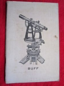 1938 Buff Buff Mfg Co Surveying Instruments 56 Page Catalog Brochure