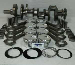 Small Block Ford 331 Cid Stroker Rotating Assy I Beam Rods Forged Flat Top Pist