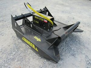 Bobcat Skid Steer Attachment 48 Brush Cutter Rotary Bush Hog Free Shipping