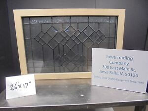 Leaded Beveled Glass Window Stain Glass Thermal Pane New 250 Nice