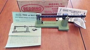 Vintage Redding #1 Powder and Bullet Scale in Original Box and Packing