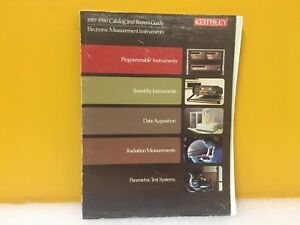 Keithley 1985 1986 Catalog Buyers Guide Electronic Measurement Instruments