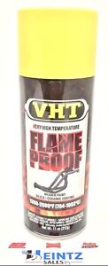Vht Sp108 High Temperature Flame Proof 11oz Flat Header Yellow Spray Paint