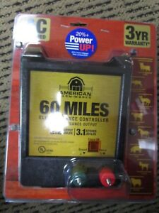 American Farm Works 60 Miles Electric Fence Controller Eac60mai r1 Brand New