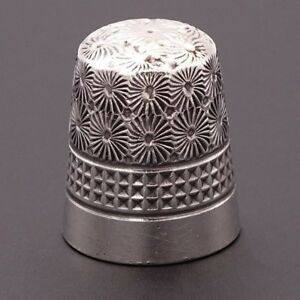 Sterling Silver Vintage Thimble Ch Dorcas Sewing Size 7