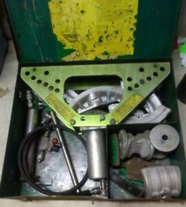 Greenlee 777 Bender 1 1 4 To 4 Inch Rigid Pipe Complete W pump New Hose Manual