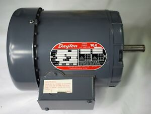 Dayton 3 Phase A c Motor 2n864 l 1 3 Hp 1725 Rpm New