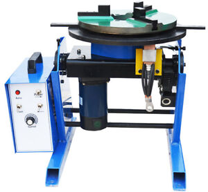 30 100kg Large Welding Positioner Turntable With Chuck Foot Switch 110v 60hz