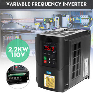 2 2kw 110v Single To 3 Phase Vfd Vsd Variable Frequency Drive Inverter Converter