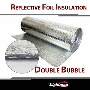 Double Foil Bubble Insulation Floor Wall Caravan Shed Loft Roof Radiant Barrier