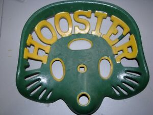 Antique Vintage Original Hoosier Cast Iron Tractor implement Seat