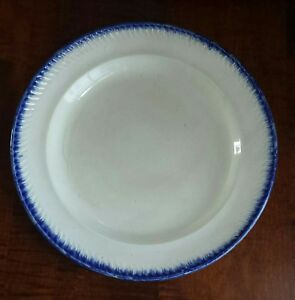 Antique Leeds Blue Feather Edge Staffordshire Pearlware Plate 10 3 4