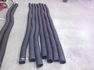 Used 4 X 11 L Exhaust Fumes Ventilation Hose Garage Door Rubber Vent Tail Pipe