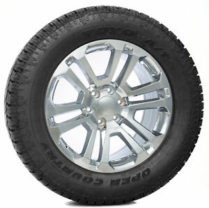 Chevy Silverado Z71 Tahoe Suburban Rims 20 Split Spoke Chrome Wheels Toyo Tires