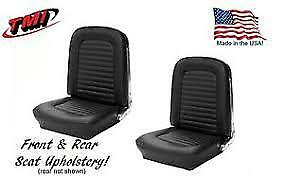 1965 Mustang Coupe Full Upholstery Set Standard Black Tmi