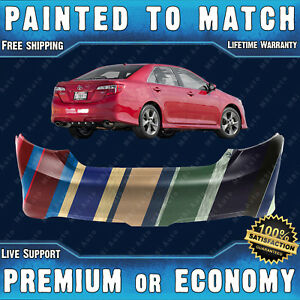 New Painted To Match Rear Bumper Replacement For 2012 2013 2014 Toyota Camry Se