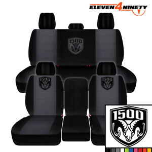 2011 2018 Dodge Ram 1500 Car Seat Covers Black Charcoal With New 1500 Design