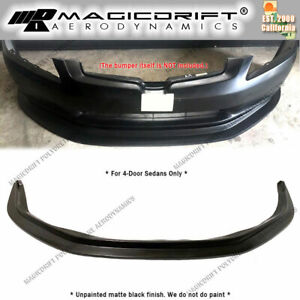 For 03 05 Honda Accord 4 Door Sedan Mda Style Front Bumper Splitter Lip Jdm
