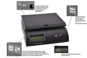 New Weighmax 2822 75lb Postal Shipping Scale Battery And Ac Adapter Included
