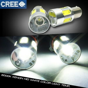 2x Cree Xr E Led 1156 For Land Rover Projector Stop Light White 7506 Ba15s P21w