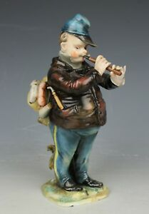 Dresden Volkstedt Figurine Soldier With Pipe Worldwide