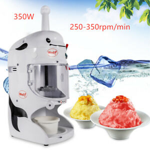 Snow Cone Machine Electric Maker Shaved Ice Machine Ice Crusher Commercial Grade