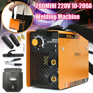 220v Zx7 200 Portable Mma Arc Welder Welding Machine Soldering Inverter W Mask