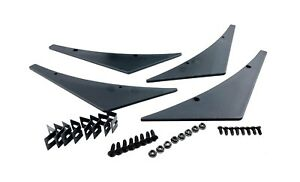 4 Pack Universal Car Body Kit Front Bumper Fin Splitters Spoiler Canard Valence