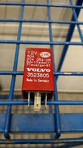 Genuine Volvo New Hella Red Over Drive Relay 3523805