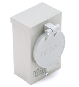 Outdoor Generator Inlet Box Transfer Switch Power Outage Socket Outlet 30 Amp