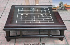 Old China Rosewood Wood Weiqi Of Go Chessboard Chess Checkerboard Tables Statue