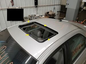 2007 Cadillac Cts Sun Roof Glass Window Glass Only