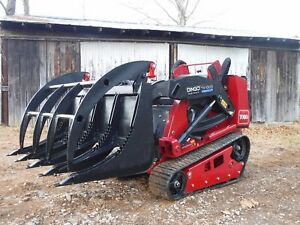 Toro Dingo Mini Skid Steer Attachment 48 Root Rake Grapple Bucket Free Ship
