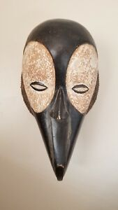 Vintage Antique African Tribal Ceremonial Mask From Cameroon Ba Mileke