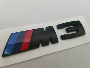 Black M3 Fit Bmw Rear Trunk Nameplate Badge Emblem Numbers Letters Decal Name