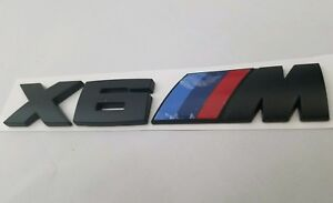 Black X6m Fit Bmw M Package Rear Trunk Nameplate Badge Emblem Numbers Letters