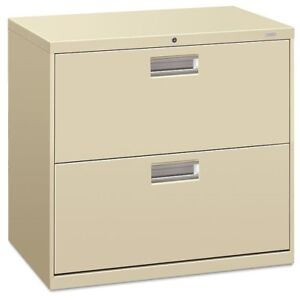 Hon 600 Series Two drawer Lateral File 30w X 19 1 4d Putty Hon672ll