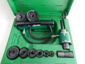 Greenlee 7306 1 2 To 3 Hydraulic Knockout Punch Set 7306sb