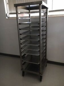 Heavy Duty Commercial Mobile Bakery Speed Rack Carrier Cart Dry