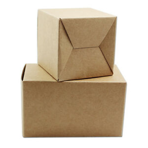 Kraft Paper Brown Box Gifts Candy Soap Perfume Packaging Boxes For Wedding Party