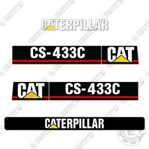 Caterpillar Cs433c Vibratory Smooth Drum Roller Decals Cs 433 C
