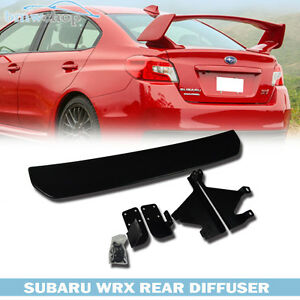 Stock In Usa Unpaint Under Lip Spoiler Rear Diffuser For Subaru Wrx Sti Sedan