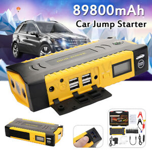 Car Jump Starter 89800mah 4 Usb Led Emergency Battery Booster Power Bank 12v Lot