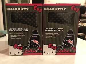Seat Cover Hello Kitty Low Back Car With Head Rest Covers Automotive Set Of 2